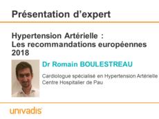 Hypertension Artérielle : Les recommandations européennes 2018