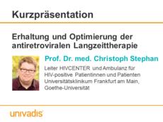 Erhaltung und Optimierung der antiretroviralen Langzeittherapie